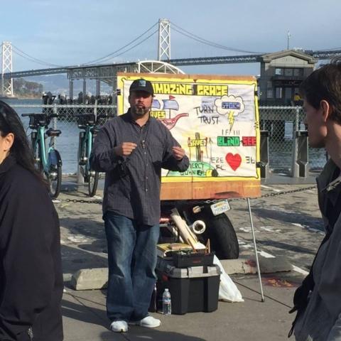 San Francisco waterfront Bay Bridge